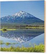 Mount Bachelor Reflection Wood Print