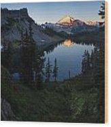 Mount Baker Chain Lakes Awakening Wood Print