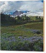 Mount Baker Lupine Meadows Wood Print