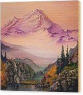 Mount Baker Morning Wood Print