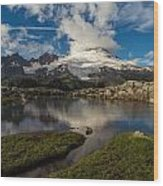 Mount Baker Skies Reflection Wood Print