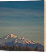 Mount Baker Sunset Wood Print