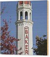 Mount Baker Theater Tower Bellingham Wood Print