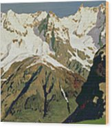 Mount Blanc Mountains Wood Print