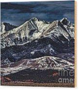 Mount Blanca Wood Print
