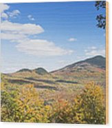 Mount Blue State Park In Fall Weld Maine Wood Print