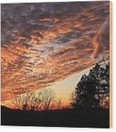 Mount Cheaha Sunset-alabama Wood Print
