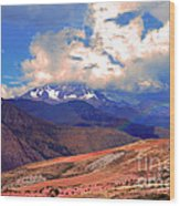 Mount Chicon Rainbow In Andes Wood Print