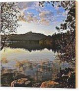 Mount Chocorua At Dusk Wood Print