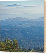 Mount Diablo From Mount Tamalpias-california Wood Print