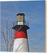 Mount Dora Lighthouse Close Up Wood Print
