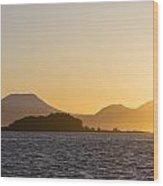Mount Edgecome Sunset Wood Print