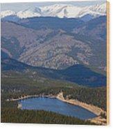 Mount Evans And Echo Lake Wood Print