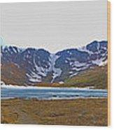 Mount Evans And Summit Lake Wood Print