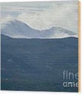 Mount Evans In Snow Wood Print