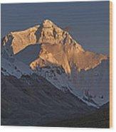 Mount Everest At Dusk Wood Print