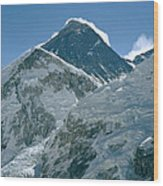 Mount Everest Morning Wood Print
