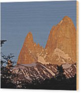 Mount Fitz Roy At Sunrise Wood Print