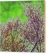 Mount Fuji In Bloom Wood Print
