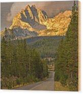 Mount Heyburn Wood Print