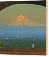 Mount Hood Framed Wood Print by DerekTXFactor Creative