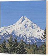Mount Hood Mountain Oregon Wood Print by Jennie Marie Schell
