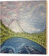 Mount Hood Night Sky Wood Print
