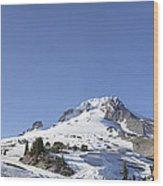 Mount Hood Oregon Panorama Wood Print