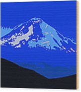 Mount Hood Panoramic Wood Print