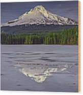 Mount Hood Reflections Wood Print