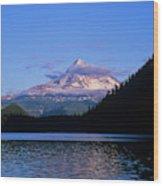 Mount Hoods Looms Over Lost Lake  Hood Wood Print