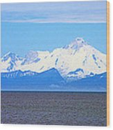 Mount Iliamna Across Cook Inlet From Ninilchik-alaska Wood Print