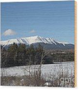 Mount Katahdin Winter 3 Wood Print