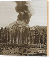 Mount Lassen Volcano California 1914 Wood Print