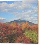 Mount Monadnock From Gap Mountain In Autumn Wood Print