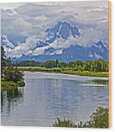 Mount Moran From Oxbow Bend N Grand Teton National Park-wyoming Wood Print