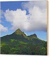 Mount Olomana Hawaii Wood Print