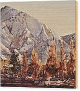 Mount Olympus Wood Print