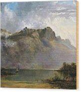 Mount Olympus. Lake St Clair. Tasmania The Source Of The Derwent Wood Print