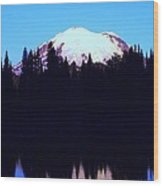 Mount Rainer At Tipsoe Lake In The Sunrise Wood Print