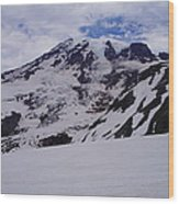 Mount Rainer In The Clouds Wood Print