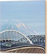 Mount Rainier Backdrop Wood Print