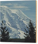 Mount Rainier From Patterson Road Wood Print