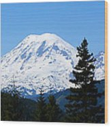 Mount Rainier Panorama Wood Print
