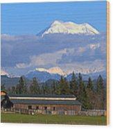 Mount Rainier Wood Print