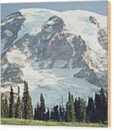 Mount Rainier Peak Wood Print