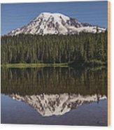 Mount Rainier Reflection Lake Wood Print