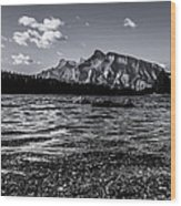 Mount Rundle @ Two Jacks  Wood Print
