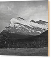 Mount Rundle At Banff National Park Wood Print