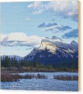 Mount Rundle Wood Print
